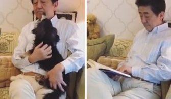 Başbakan Abe evinde çektiği video ile evde kal çağrısında bulundu