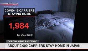 Japonya'da yaklaşık 2.000 virüs taşıyıcısı evde kalıyor
