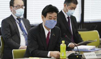 Nishimura, koronavirus ilaç araştırma tesisini ziyaret etti